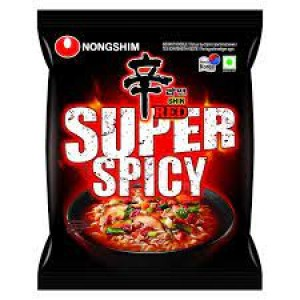 NONGSHIM SHIN RED SUPER SPICY NOOODLE 120GM