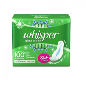 WHISPER ULTRA CLEAN XL+ 7 PADS ODOUR LOCK
