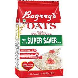 BAGRRYS WHITE OATS SUPER SAVER 1.5KG POUCH