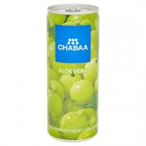CHABAA ALOEVERA JUICE CAN 230ML