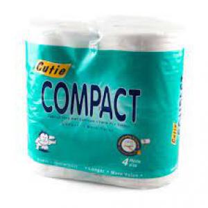 CUTIE COMPACT TOILET 4ROLLS